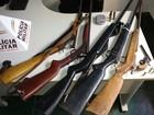 Vinte e cinco armas são apreendidas em operação da PM no Norte de MG