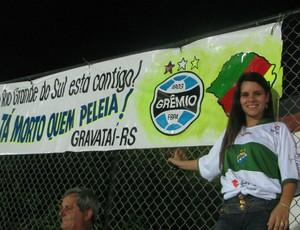 Greicy, esposa de Geninho, do Coruripe, em Jundiaí (Foto: Rafaela Gonçalves / Globoesporte.com)