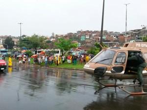 Socorridos pelo GRAER foram levados para hospitais da cidade (Foto: Polícia Militar/Divulgação)