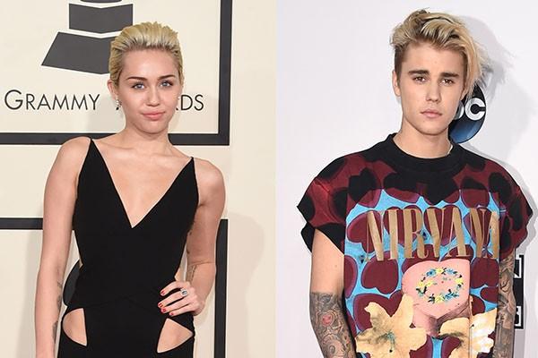 Miley Cyrus e Justin Bieber (Foto: Getty Images)