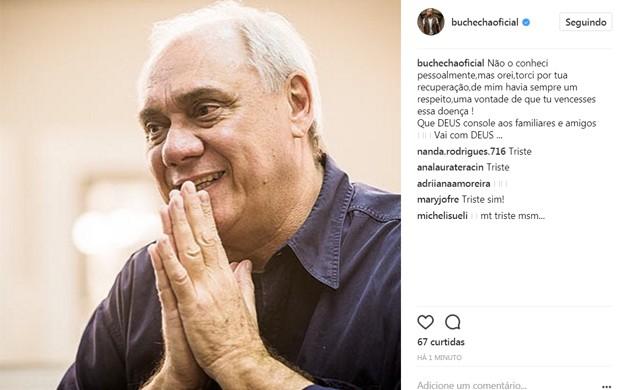 Buchecha lamenta morte de Marcelo Rezende (Foto: Reprodução/Instagram)
