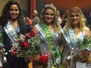 Miss Brasil Plus size Aline Zattar (centro), a 1ª princesa Poliana Emiliane (esquerda) e a 2ª princesa Juliana Casotto. (Foto: Divulgação)