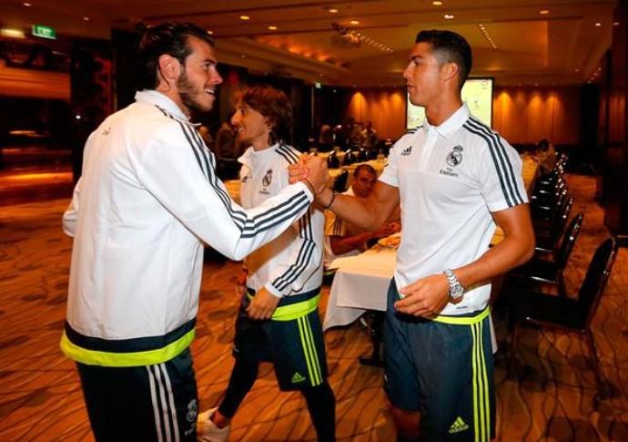 Cristiano Ronaldo Bale Real Madrid (Foto: Reprodução / Site Oficial)