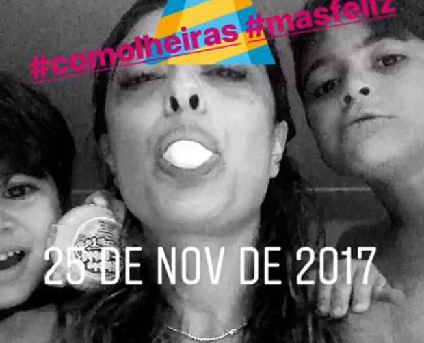 Juliana com Pedro e Antonio (Foto: Reprodução/Instagram)
