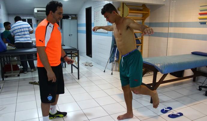 Ruan exames médicos Paysandu (Foto: Fernando Torres/Ascom Paysandu)