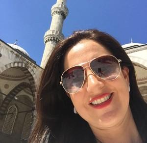 Luciana Féres, diretora da FMC, viajou à Turquia para participar de reunião da Unesco (Foto: Luciana Féres/Arquivo Pessoal)