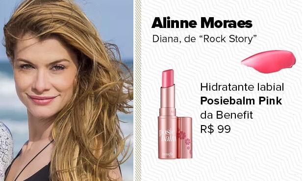 O batom, usado pela personagem Diana (Alinne Moraes), é um hidratante labial da Benet. (Foto: Sandy Bahia/EGO)
