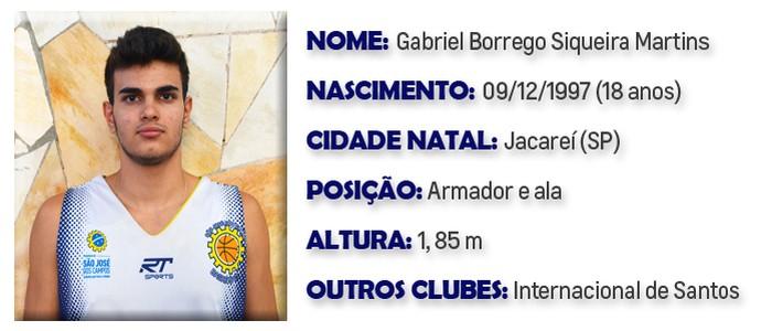 Gabriel São José Basquete (Foto: Arte GloboEsporte.com)