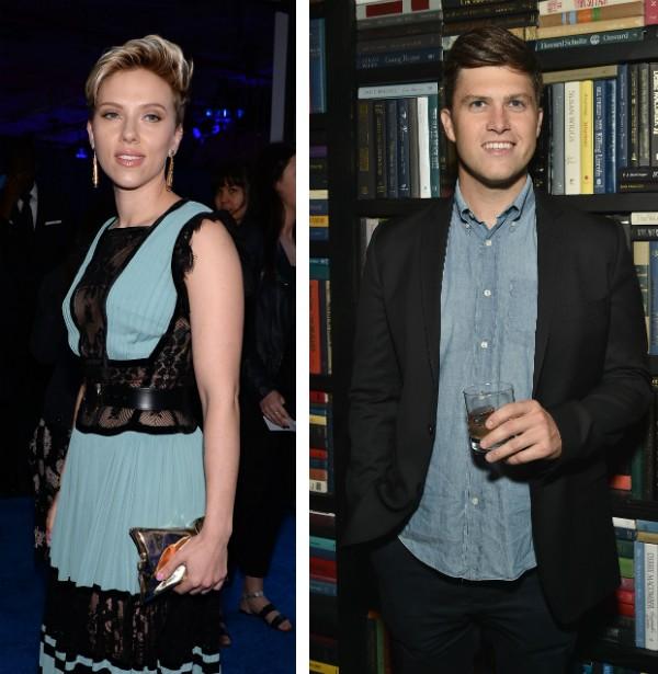 A atriz Scarlett Johansson e o ator Colin Jost (Foto: Getty Images)