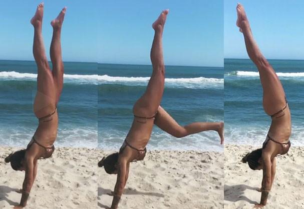 Petra Mattar exibe corpo esculpido em dia de praia (Foto: Reprodução Instagram)