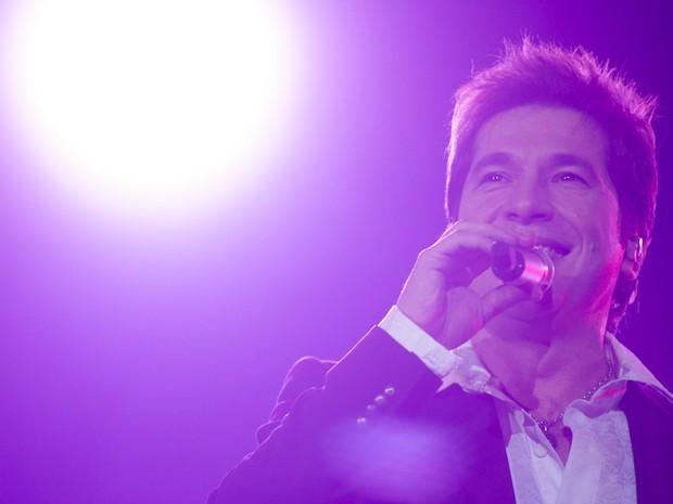 Público 'levanta' e acompanha músicas do cantor Daniel neste sábado (19), em Barretos (Foto: Flávio Moraes/G1)