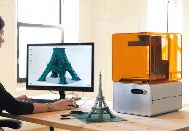 Form 1 3D printer, aparelho que faz impressões em 3D  (Foto: Divulgação)