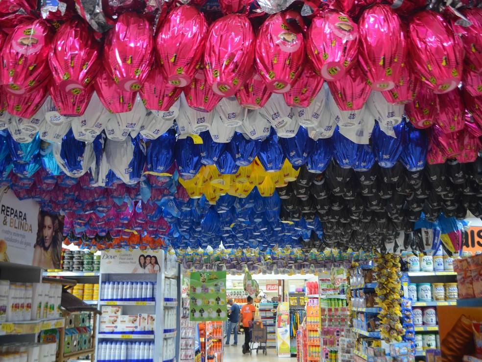 Ovo de páscoa em supermercado do Amapá (Foto: Jorge Abreu/G1)