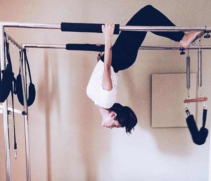 Carla Morone indica pilates para manter a forma (Foto: Arquivo pessoal)