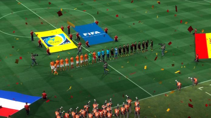 As apresentações também compõe o clima de Copa do Mundo (Foto: Reprodução / TechTudo)