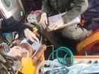Bebê é socorrido em estado grave após cair em balde em Luziânia, GO
