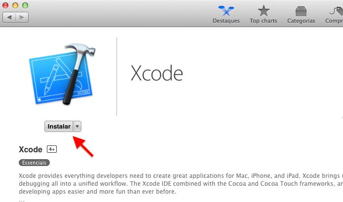 Instale o Xcode no Mac OS X (Foto: Reprodução/Helito Bijora)