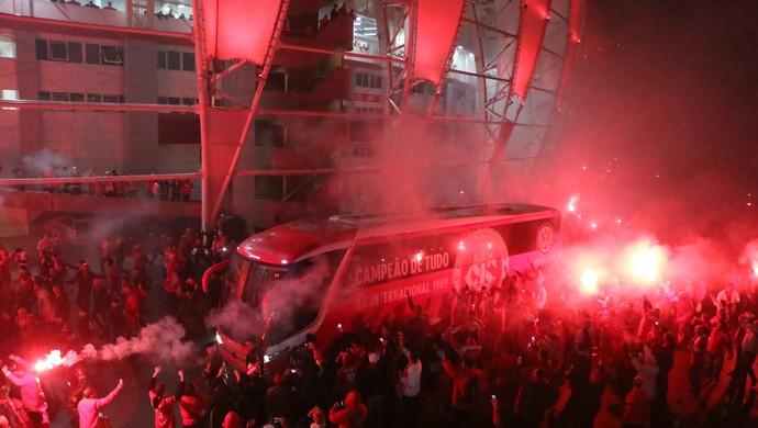 Inter Tigres Libertadores Beira-Rio pré-jogo torcida ruas de fogo (Foto: Diego Guichard/GloboEsporte.com)