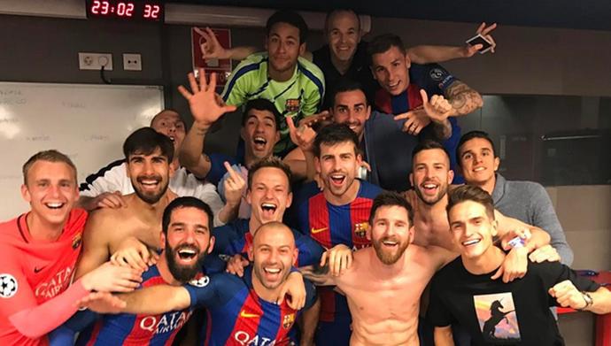 Mathieu Barcelona PSG (Foto: Reprodução/Instagram)