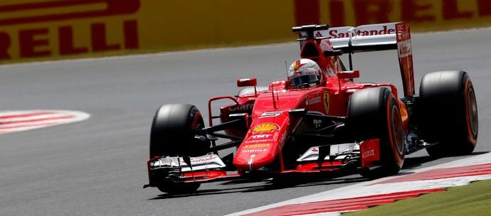 Sebastian Vettel fica com sexto tempo no treino classificatório para o GP da Inglaterra (Foto: Getty Images)