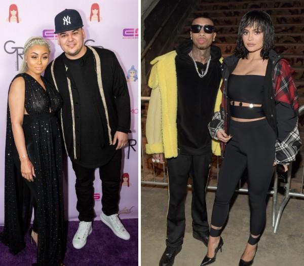 Blac Chyna, Rob Kardashian, Tyga e Kylie Jenner (Foto: Getty Images)