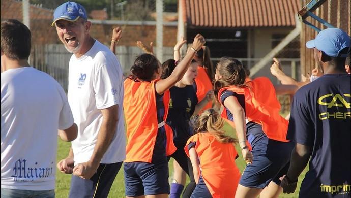 Pelotas Lobas futebol feminino Marcos Planela (Foto: Thiago Lopes / AGFF)