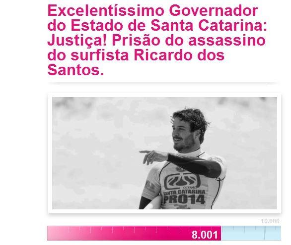 Petição online alcançou 8 mil assinaturas na manhã de quinta (22) (Foto: Reprodução/Avaaz)