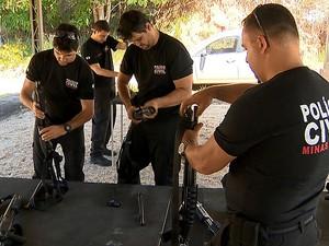 Treinamento Polícia Civil Juiz de Fora (Foto: Reprodução/TV Integração)