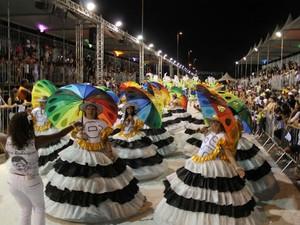 Escola de Samba 28 de Setembro desfilando em Sorocaba, SP (Foto: Divulgação/ 28 de Setembro)