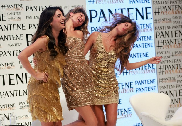 Ana Brenda, Gisele Bündchen e Stephanie Cayo (Foto: Celso Tavares / Ego)