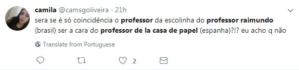 Internauta faz piada com semelhança de Bruno Mazzeo e Álvaro Morte (Foto: Reprodução / Twitter)