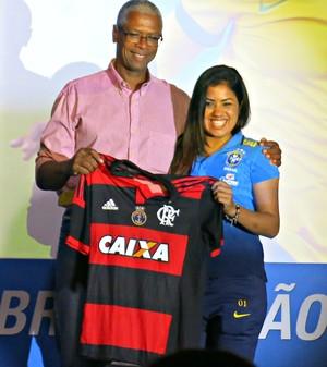 Maurine, draft Brasileirão feminino (Foto: Cintia Barlem)