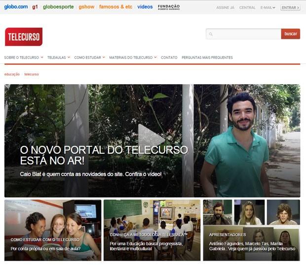 Portal do Telecurso estreia na Globo.com (Foto: Reprodução/Telecurso)