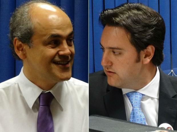 Gustavo Fruet e Ratinho Jr: curitibanos escolhem o novo prefeito neste domingo (Foto: Sérgio Tavares Filho/G1)