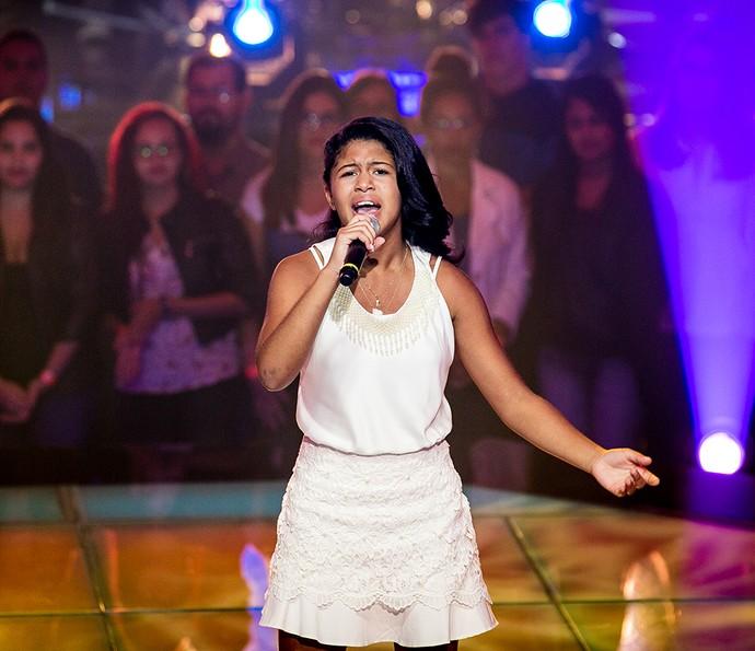 Julie de Assis leva a melhor e passa para a próxima fase do The Voice Brasil Kids  (Foto: Isabella Pinheiro/Gshow)