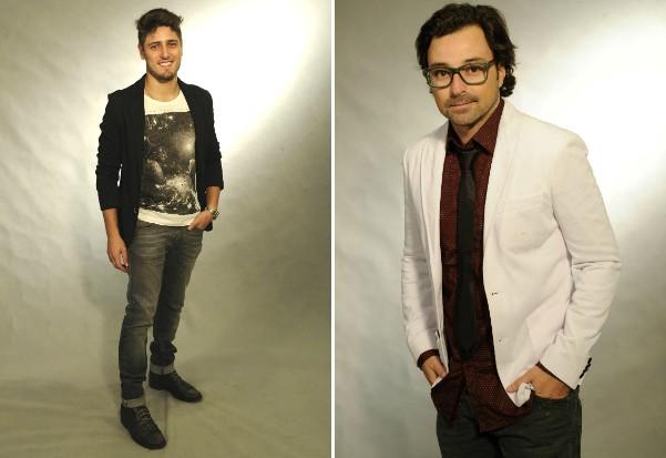 Daniel Rocha estará em São José e Emílio Orciollo, em Blumenau, nesta semana (Foto: Estevam Avellar/TV Globo)
