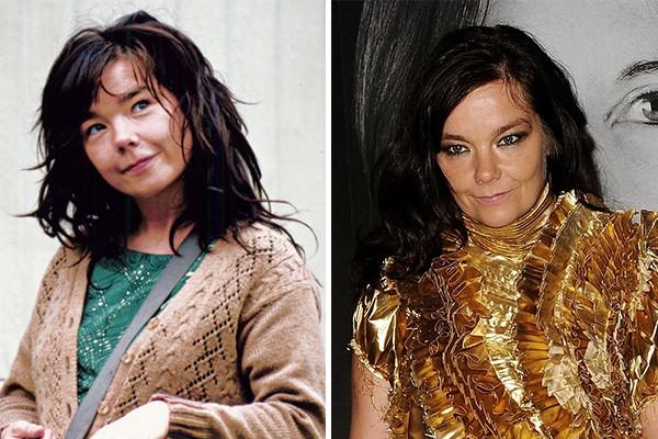 Björk (Foto: Divulgação e Getty Images)