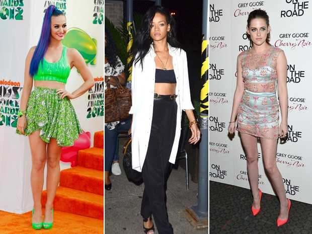 Katy Perry, Rihanna e Kristen Stewart (Foto: Reuters / Getty Images /Getty Images)