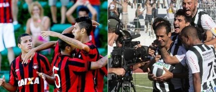 Atlético-PR e Maringá (Foto: Geraldo Bubniak/Agência Estado e Maringá FC/Divulgação)