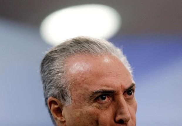 O presidente Michel Temer fala no Palácio do Planalto em Brasília (Foto: Ueslei Marcelino/Reuters)