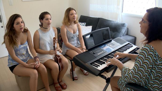 Julia, Ana Luiza e Naomi formam o trio 'Valentina' (Foto: Divulgação/ TV Gazeta ES)