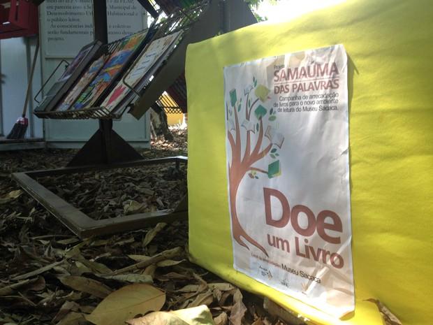 Doações de livros podem ser entregues no Museu Sacaca, em Macapá (Foto: Fabiana Figueiredo/G1)