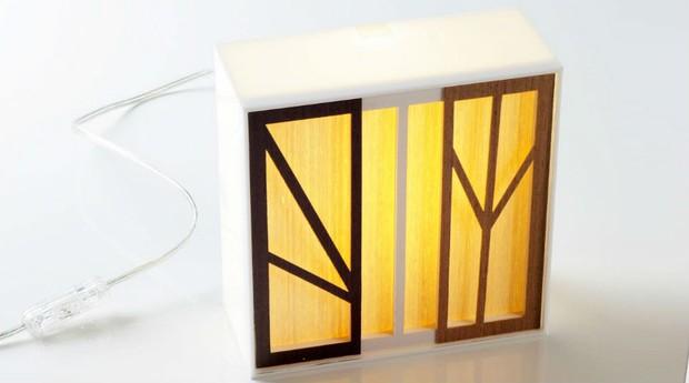 A luminária feita de papel é um dos aprendizados para quem participa da Universidade do Papel (Foto: Divulgação)