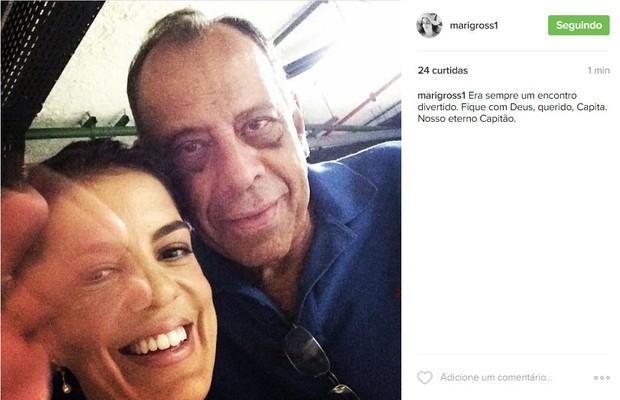 Mariana Gross faz homenagem a Carlos Alberto Torres (Foto: Reprodução / Instagram)