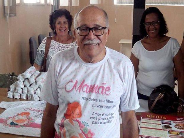 Almir Santana fala sobre os riscos da doença para o bebê (Foto: Tássio Andrade/G1)