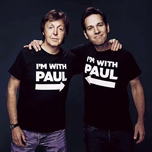 Paul Rudd e Paul McCartney (Foto: .)