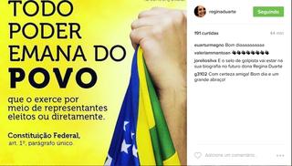 Post de Regina Duarte (Foto: Reprodução/Instagram)
