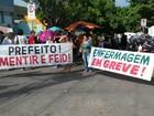 Enfermeiros param atividades em Cuiabá para pedir plano de carreira