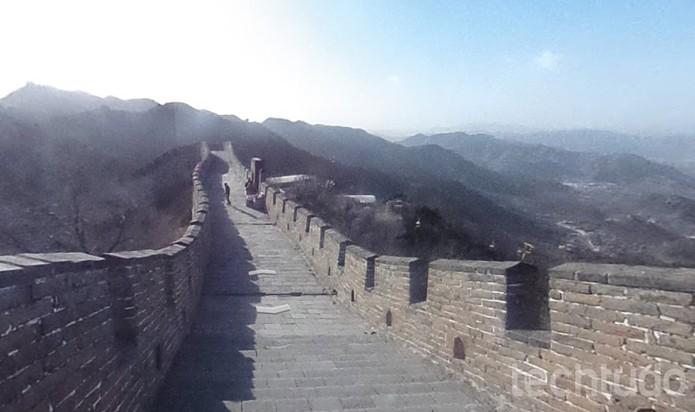 Google Street View mostra a grandiosa Muralha da China (Foto: Reprodução/Barbara Mannara)