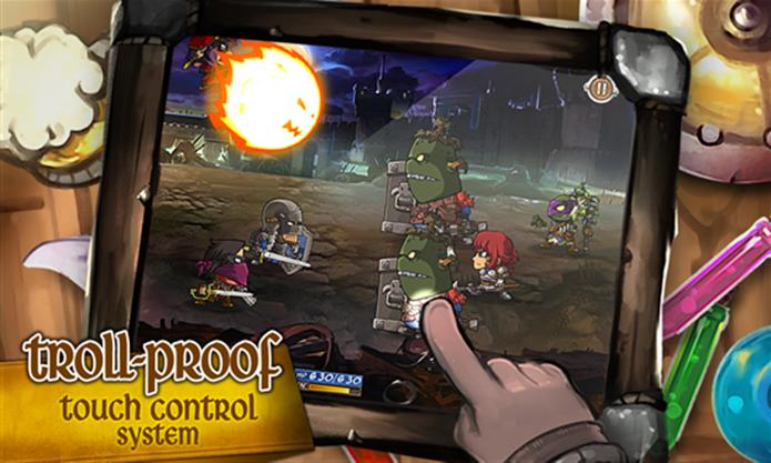 Battleloot Adventure é um jogo clássico RPG para Windows Phone com batalhe em turnos (Foto: Divulgação/Windows Phone Store)